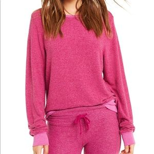 NEW Wildfox Pink Baggy Beach Jumper in Passion